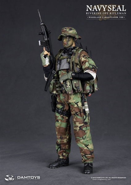 NAVY SEAL Riverine Ops Rifleman Woodland Camouflage Version