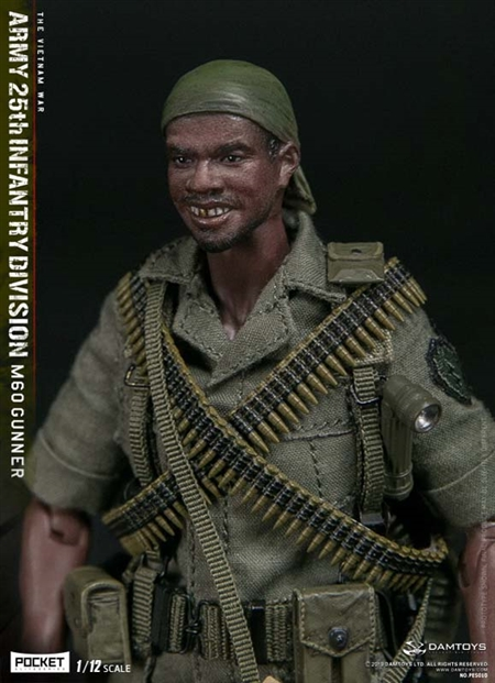 ARMY 25th Infantry Division M60 Gunner - DAM Toys 1/12 Scale Figure