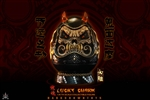 """Burning Soul"" Series Lucky Charm - Ghost Face Daruma - Dark Crown Toys"