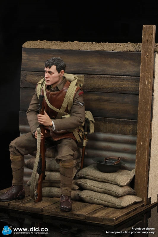 William with Trench Diorama - World War I British Infantry Lance Corporal - DiD 1/6 Scale Figure and Accessory Set