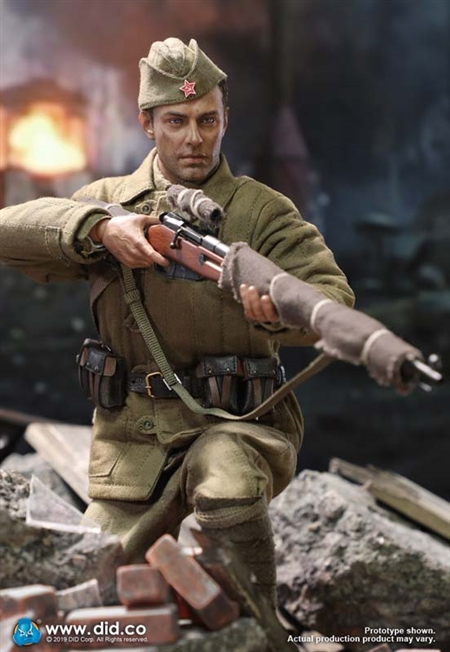 eea52263c Vasily Zaitsev - Weathered Version - WWII Russian Sniper - DiD 1/6 Scale  Figure