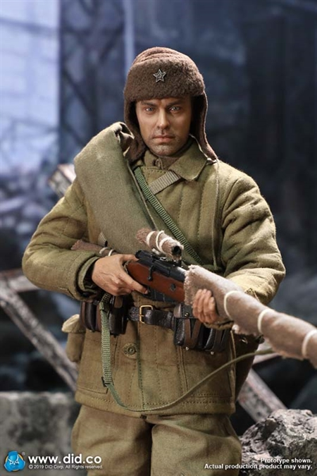 Vasily Zaitsev - No Weathering Version - WWII Russian Sniper - DiD 1/6 Scale Figure