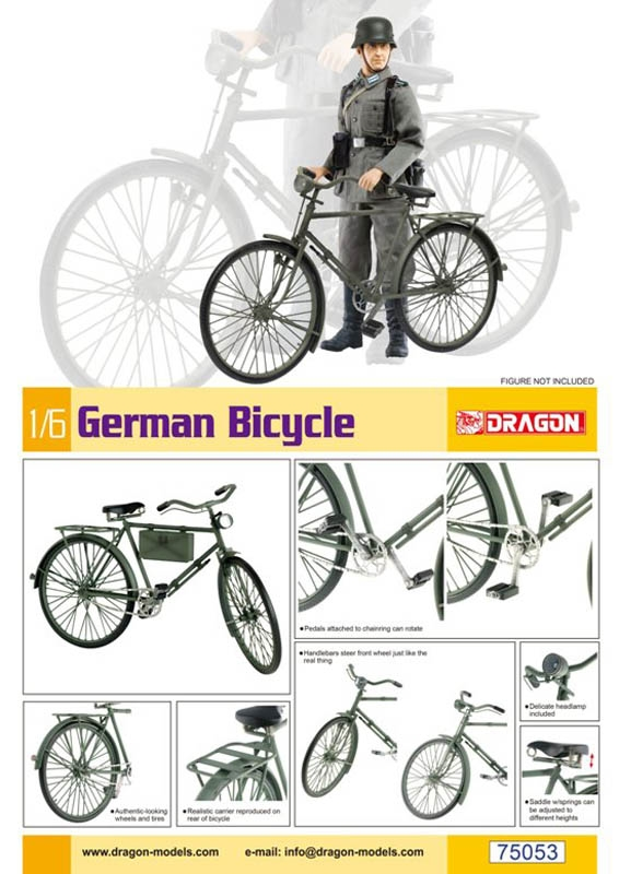 1/6 German Bicycle - Dragon Models 1/6 Scale Model Kit