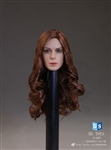 Female Head with Long Curly Hairstyle - DS Toys