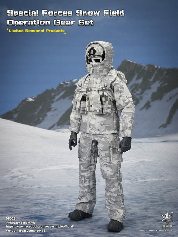Special Forces Snow Field Operation Gear Set - Easy Simple 1/6 Scale Accessory Set