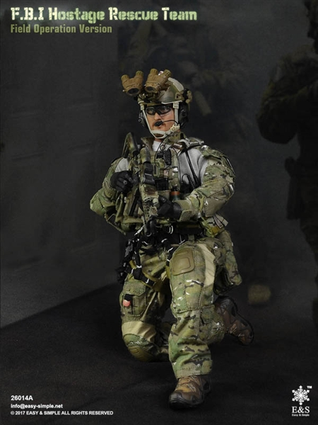1//6 DAM DAMTOYS FBI Hostage Rescue Team Uniform Morale Patches