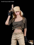 Female Tactical Shooter Combat Uniform Army - Green Version - Fire Girl 1/6 Scale Accessory
