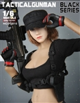 Female Tactical Shooter Combat Uniform Army - Black Version - Fire Girl 1/6 Scale Accessory