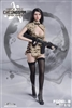 Combat Cheongsam - Digital Desert Camouflage - Fire Girl 1/6 Scale Accessory