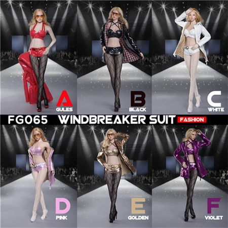 Fashion Windbreaker - Six Color Options - Fire Girl Toys 1/6 Scale