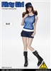 Combat Short Fashion Clothing Set in Blue - Flirty Girl 1/6 Scale Accessory Set