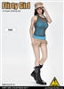 Combat Short Fashion Clothing Set in Tan - Flirty Girl 1/6 Scale Accessory Set