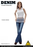 Denim Fashion Clothing Set in Lt. Blue - Flirty Girl 1/6 Scale