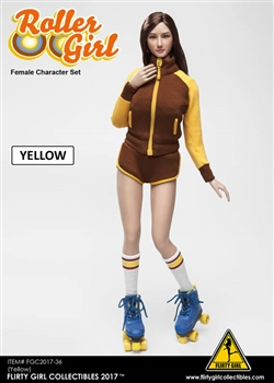 Roller Girl Female Character Set - Yellow Version - Flirty Girl 1/6 Scale Accessory Set