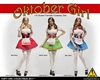 Flirty Girl's Cosplay Clothing Set - Three Color Options - Flirty Girl 1/6 Scale