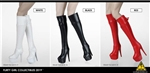 Female Zipper Boots - Three Color Versions - Flirty Girl 1/6 Scale Accessory Set