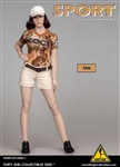 Tan Short Set - Flirty Girl 1/6 Scale Accessory