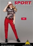 Red Pants Set - Flirty Girl 1/6 Scale Accessory