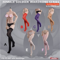 Seamless Thigh-high Hose - Six Color Options - Flirty Girl 1/12 Scale Accessory Set