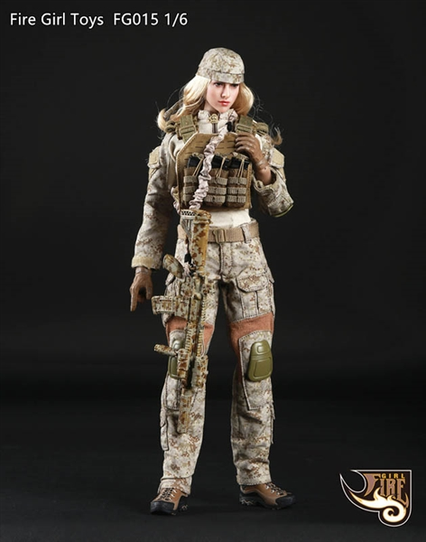 tactical female gunner in sand fire girl 1 6 scale accessory set