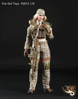 Tactical Female Gunner in Sand - Fire Girl 1/6 Scale Accessory Set