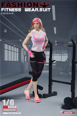 Women's Fitness Wear - Pink - Fire Girl 1/6 Scale Accessory Set