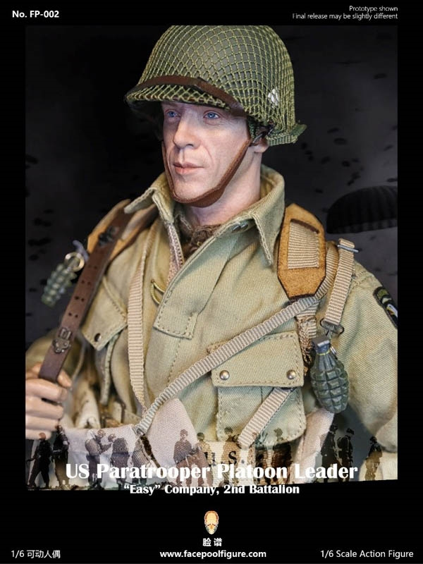 US Paratrooper Platoon Leader - Special Edition - Easy Company, 2nd Btn - World War II - Facepool 1/6 Scale Figure