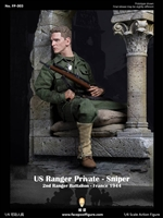 US Ranger Private Sniper World War II - Version B with Diorama - Facepool 1/6 Scale Figure