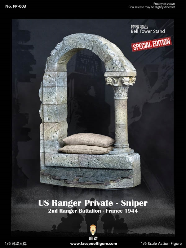 Bell Tower Stand - Diorama Display Base - Facepool 1/6 Scale Accessory