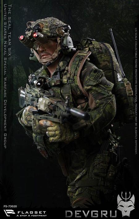 US Seals 6 Team DEVGRU Jungle Dagger Action - Flagset 1/6 Scale Figure