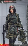 Female Sniper - Chinese - Snow Leopard Camouflage - Flagset 1/6 scale figure