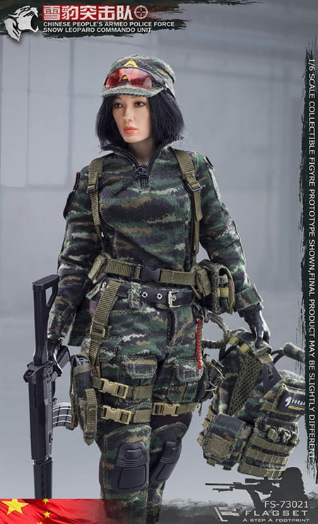 Neige leaopard Female sniper-Radio /& Casque-échelle 1//6 FLAGSET Action Figures