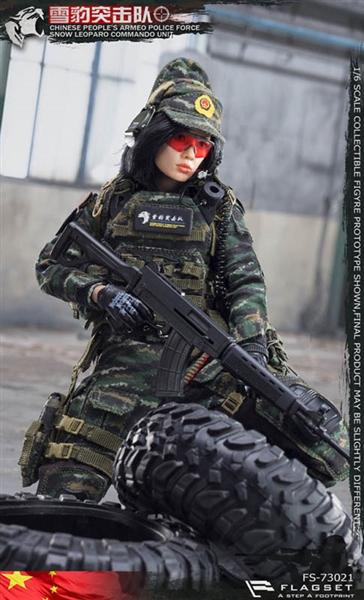 QBZ03 Assault Rifle Flagset Figures 1//6 Scale Snow Leopard Female Sniper