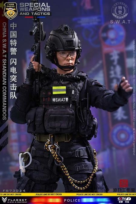 1:6th Scale Black Police//SWAT Helmet