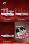 Metal Bed Base and Linen Sets - Six Options - FW Toys 1/6 Scale