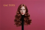 European Woman's Head Sculpture with Red Hair - GAC Toys 1/6 Scale Figure
