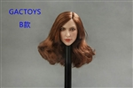 Caucasian Female Head - Dark Hair - Toys 1/6 Scale