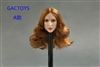 Caucasian Female Head - Red Hair - Toys 1/6 Scale