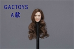 Asian Female Head Sculpt - Long Brown Hair - GAC Toys 1/6 Scale