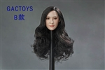 Asian Female Head Sculpt - Long Black Hair - GAC Toys 1/6 Scale