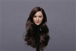 Asian Female Head - Long Brown Hair - GAC Toys 1/6 Scale