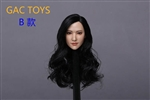 Asian Female Head - Long Black Hair - GAC Toys 1/6 Scale