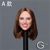 Caucasian Women's Head Sculpt - Version A - GAC Toys 1/6 Scale