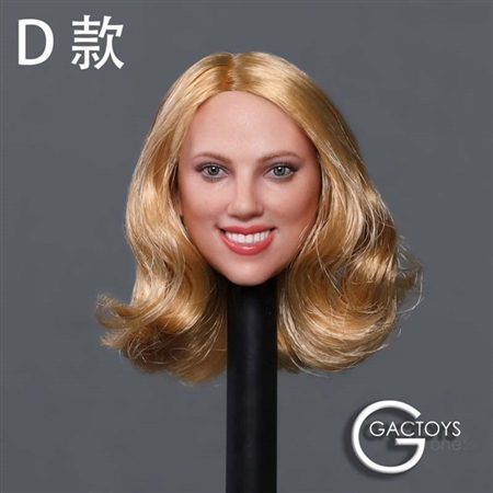 Caucasian Women's Head Sculpt - Version D - GAC Toys 1/6 Scale