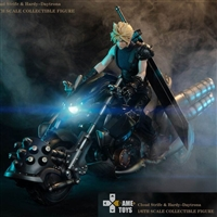Fantasy Warrior Cloud Strife Deluxe Edition with Moto Bike - Game Toys 1/6 Scale Figure