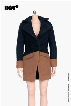 Cashmere Coat in Brown - 1/6 Accessory Set