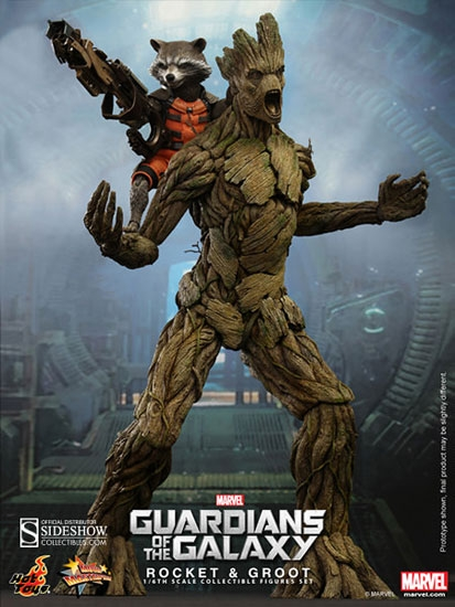 rocket and groot guardians of the galaxy movie masterpiece series