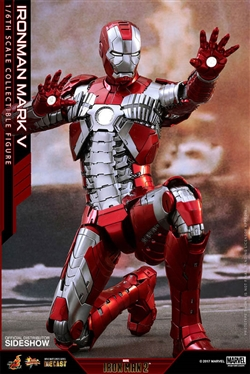 Iron Man Mark V - Diecast Movie Masterpieces Series - Hot Toys 1/6 Scale Figure 902942