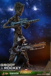 Groot and Rocket - Avengers: Infinity War - Marvel - Hot Toys Movie Masterpieces Series 1/6 Scale Figure