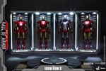 Hall of Armor Single - Set of Four - Hot Toys 1/6 Scale Accessory